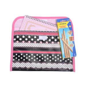 連絡袋(B5サイズ) リボンとレースの水玉ハーモニー(ブラック)|ccstyle|02