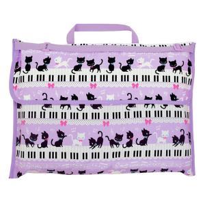 防災頭巾カバー スタンダード(背板幅36cmタイプ) ピアノの上で踊る黒猫ワルツ(ピンク) 小学校 小学生 (防災頭巾カバー 背もたれ )