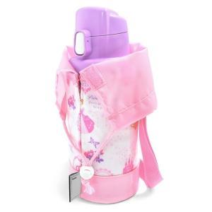 水筒カバー スモールタイプ プリンセスドレスで彩るパウダールーム(ホワイト)(水筒カバー 肩掛け 子...