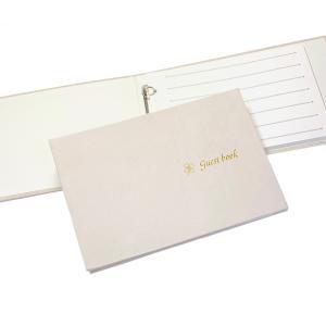 芳名帳 ゲストブック  ルナ  バインダー式 リフィル15枚付(90名用) 送料無料