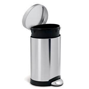 simplehuman セミラウンドステップカン 6L ペダル式 フタ付き 小さめ 小型 トイレ 洗面室 シンプルヒューマン 正規品 1年間メーカー保証付き CW1835 ホワイト|cdf|03