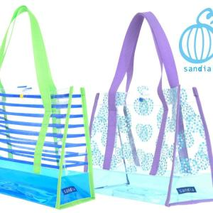 【Sandia サンディア PVCプールバッグ 】水着やタオルが余裕で入る 男の子 女の子 キッズ 子供  スイムバッグ 抗菌持ち手|cdmcloset