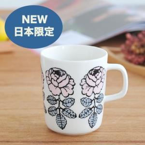 【日本限定】marimekko VIHKIRUUSU マグカップ /ピンク単品 72(390)【68411】マリメッコ ヴィヒキルース cds-r
