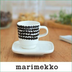 marimekko Siirtolapuutarha ドット柄 エスプレッソカップ&ソーサー 95(190)【65322】マリメッコ|cds-r