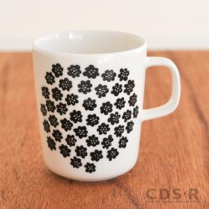 marimekko PUKETTI マグカップ/モノトーン・ホワイトベース 90(190)【68354】マリメッコ プケッティ|cds-r