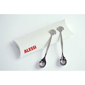 ALESSI アレッシィ ANNA SPOON アンナ シュガースプーン 2本セット AM19CUSET2 J1BOX|cds-r