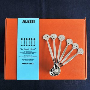 ALESSI アレッシィ ANNA SPOON シュガースプーン 6本セット AM19CUSET アンナ Anna Set ギフトBOX ティースプーン|cds-r