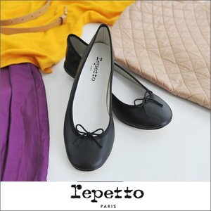 repetto レペット Ballerina Cendrillon スムースレザー バレエシューズ(VX086VE/6086/99) cds-r