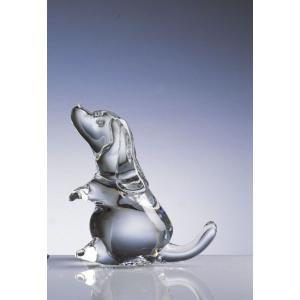クリスタルガラスの輝きが美しいガラス オーナメント ブラッドハウンド イタリアVilca cecicela