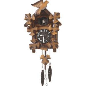 鳩時計 はと時計 カッコークロック カッコーメイソンR 4MJ234RH06 リズム時計 シチズン時計 名入れ|cecicela