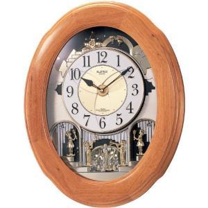 からくり時計 壁掛け時計 スモールワールド ソルシアF  4MN422RB06  送料無料 ギフト お洒落 名入れ 掛け時計|cecicela