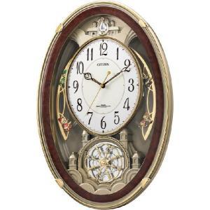 アミュージングクロック電波時計 スモールワールドクウィーダムDX 4MN484RH23 リズム時計 シチズン時計