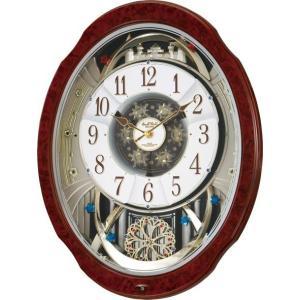 からくり時計  壁掛け時計 スモールワールド ブルームDX 4MN499RH23 リズム時計 名入れ 送料無料 ギフト お洒落 名入れ 掛け時計|cecicela