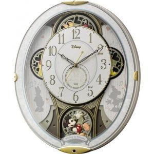 からくり時計 壁掛け時計 ミッキー&フレンズM509 4MN509MC03 ディズニークロック リズム時計 名入れ 送料無料 ギフト お洒落 名入れ 掛け時計|cecicela