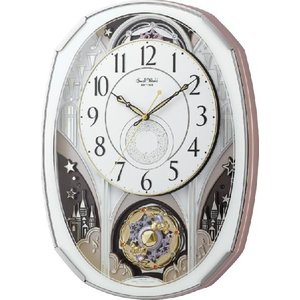 からくり時計 壁掛け時計 スモールワールド ノエルM 4MN513RH03  リズム時計 名入れ 送料無料 ギフト お洒落 名入れ 掛け時計|cecicela