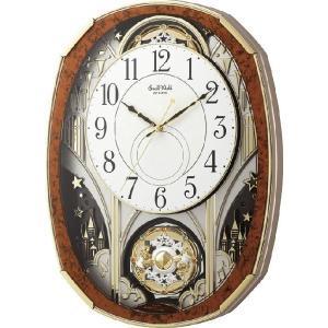 からくり時計 壁掛け時計 スモールワールド ノエルM 4MN513RH23  リズム時計 名入れ 送料無料 ギフト お洒落 名入れ 掛け時計|cecicela