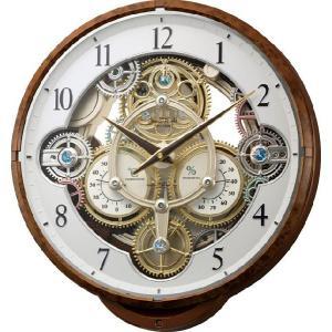 からくり時計 壁掛け時計 スモールワールド シーカー 4MN515RH23 リズム時計 名入れ 送料無料 ギフト お洒落 名入れ 掛け時計|cecicela