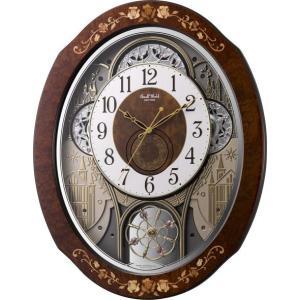からくり時計 壁掛け時計 スモールワールド ティアモ 4MN521RH06 リズム時計 送料無料 ギフト お洒落 名入れ 掛け時計|cecicela
