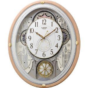 からくり時計 壁掛け時計 スモールワールド エアル 4MN525RH13 リズム時計 名入れ 送料無料 ギフト お洒落 名入れ 掛け時計|cecicela