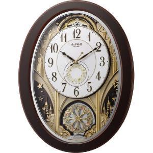 からくり時計 壁掛け時計 スモールワールド ジューン 4MN526RH06 リズム時計 名入れ 送料無料 ギフト お洒落 名入れ 掛け時計|cecicela