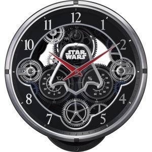からくり時計 壁掛け時計 スターウォーズ ダースベーダー 4MN533MC02 リズム時計 名入れ 送料無料 ギフト お洒落 名入れ 掛け時計|cecicela