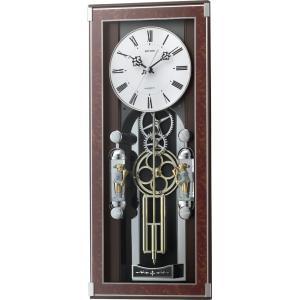 からくり振り子時計 ソフィアーレプリモ 4MN535SR23 リズム時計 振り子時計 毎正時に歯車飾りがメロディに合わせて回転  cecicela