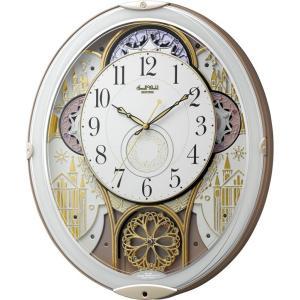 からくり時計 壁掛け時計 スモールワールド ノエルN 4MN539RH03 壁掛け時計 リズム時計 名入れ 送料無料 ギフト お洒落 名入れ 掛け時計|cecicela