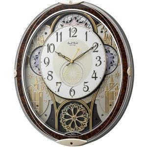 からくり時計 壁掛け時計 スモールワールド ノエルN 4MN539RH23 リズム時計 名入れ 送料無料 ギフト お洒落 名入れ 掛け時計|cecicela