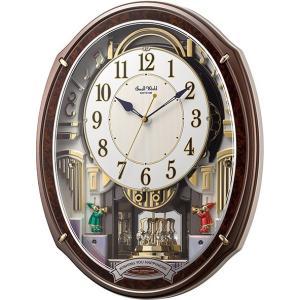 からくり時計 壁掛け時計 スモールワールド アルディ 4MN545RH23 リズム時計  名入れ 送料無料 ギフト お洒落 掛け時計|cecicela