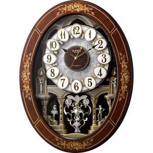スモールワールド レガロ 4MN546RH06 花象嵌細工の高級感があふれています からくり時計 リズム時計 名入れ 送料無料 ギフト お洒落  掛け時計 cecicela