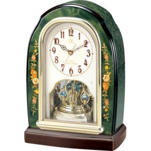 置き時計 象嵌細工 イタリアン ハイクオリティーコレクション RHG-S41 リズム時計 4RY678HG05 送料無料|cecicela