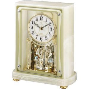 置き時計 オニックス 重厚感 ハイクオリティーコレクション RHG-S47 リズム時計 4RY684HG05 送料無料|cecicela