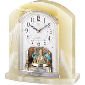 置き時計 オニックス 重厚感 ハイクオリティーコレクション RHG-S48 リズム時計 4RY685HG05 送料無料|cecicela