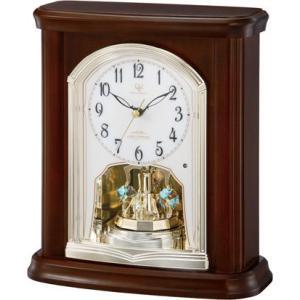 置き時計 回転飾り ハイクオリティーコレクション RHG-S63N リズム時計 4RY697HG06 送料無料|cecicela