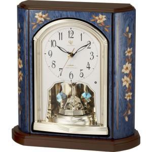 置き時計 象嵌細工 ハイクオリティーコレクション RHG-S69 リズム時計 4RY701HG04 送料無料|cecicela