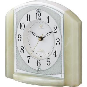置き時計 オニックス 重厚感 ハイクオリティーコレクション RHG-S71 リズム時計 4RY703HG05 送料無料|cecicela