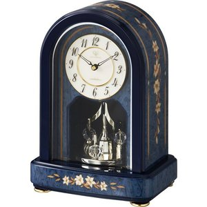 置き時計 象嵌細工 ハイクオリティーコレクション RHG-S70 リズム時計 4SG786HG04 送料無料|cecicela