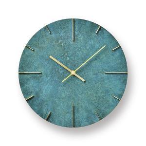 Lemnos レムノス掛け時計  Quaint  クエィント 真鍮 斑紋ガス青銅色 AZ15-06GN|cecicela
