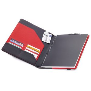 レザーノート&手帳カバーA4 BOK22LE レッド&ブラック TROIKA|cecicela