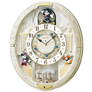 からくり時計 壁掛け時計 ディズニータイム FW580W  セイコーSEIKO電波時計 メロディー時計 送料無料 ギフト お洒落 名入れ 掛け時計|cecicela