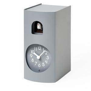 鳩時計 カッコークロック 置き掛け兼用 Lemnos レムノス Bockoo グレイ GF17-04GY|cecicela