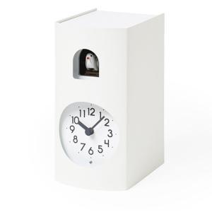 鳩時計 カッコークロック 置き掛け兼用 Lemnos レムノス Bockoo ホワイト GF17-04WH|cecicela