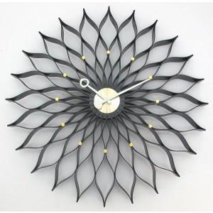 Sunflower  掛け時計 サンフラワークロック GN304BK  ジョージネルソン 壁掛け時計|cecicela
