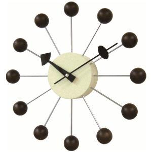 掛け時計 BALLクロック ブラウン GN397WB  ジョージネルソン|cecicela