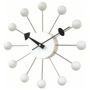 掛け時計 BALLクロック ホワイト GN13397WH  ジョージネルソン|cecicela