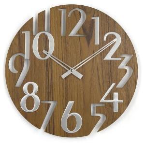 新なデザインで壁面を飾る 掛け時計   ジョージネルソン  GN215WB  チーク|cecicela