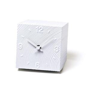 Lemnos レムノス 置き時計 cube KAZ10-17WH|cecicela