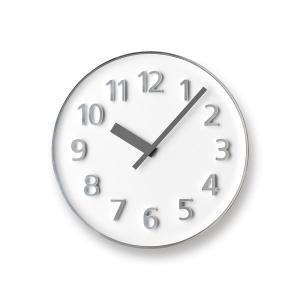 Lemnos レムノス掛け時計  KK15-08WH  アルミニウム Founder Clock ホワイト|cecicela