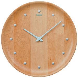 シンプルでスタイリッシュ セイコー掛け時計 SEIKO時計 KX622H nu・ku・mo・ri ビーチウッド 天然木|cecicela
