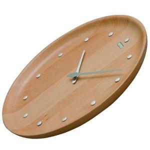 シンプルでスタイリッシュ セイコー掛け時計 SEIKO時計 KX622H nu・ku・mo・ri ビーチウッド 天然木|cecicela|02